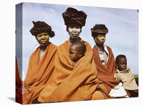 The Great Wife of a Tembu Chief and Son, Transkeian Native Territories, Africa 1950-Margaret Bourke-White-Stretched Canvas Print