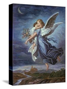 The Guardian Angel-Wilhelm Von Kaulbach-Premier Image Canvas