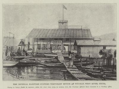 The Imperial Maritime Customs Temporary Office at Wuchan, West River, China-Melton Prior-Stretched Canvas Print