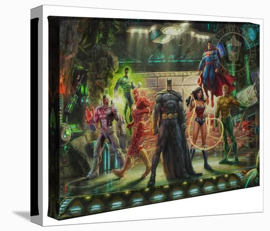 The Justice League-Thomas Kinkade-Gallery Wrapped Canvas
