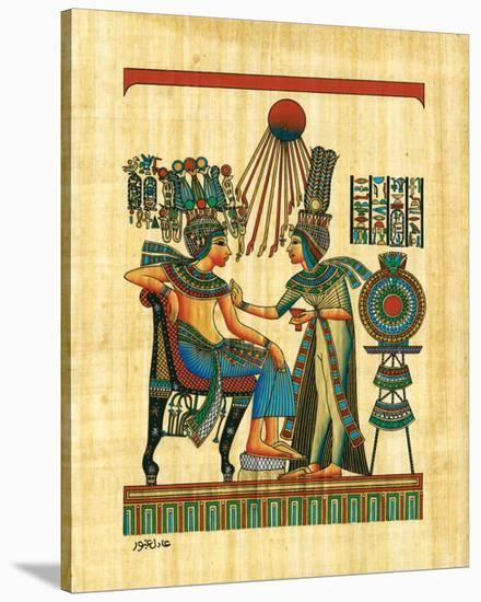 The King and his Wife--Stretched Canvas Print