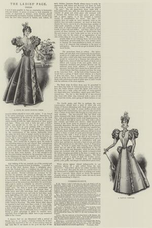 The Ladies' Page, Dress--Stretched Canvas Print