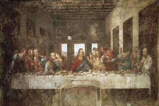The Last Supper-Leonardo da Vinci-Stretched Canvas