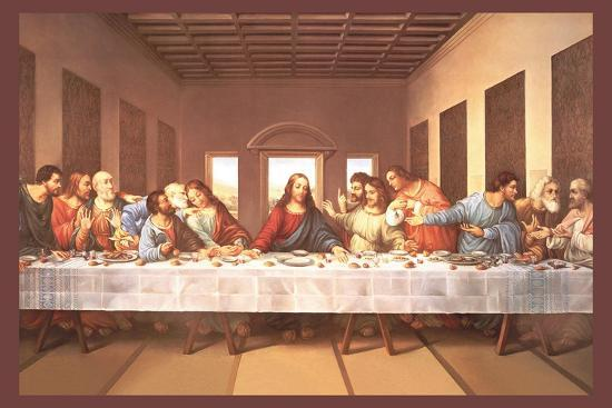 The Last Supper-Michaelangelo-Stretched Canvas Print