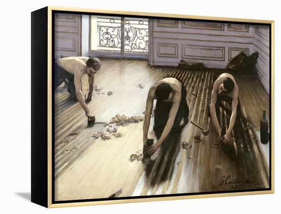 The Parquet Planers, 1875-Gustave Caillebotte-Framed Canvas Print