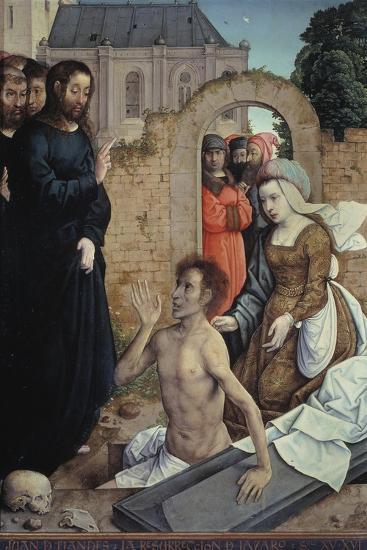The Resurrection of Lazarus-Juan de Flandes-Stretched Canvas Print