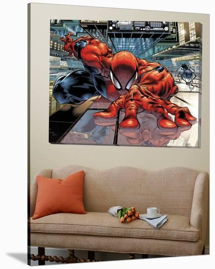 The Sensational Spider-Man No.23 Cover: Spider-Man-Angel Medina-Loft Art