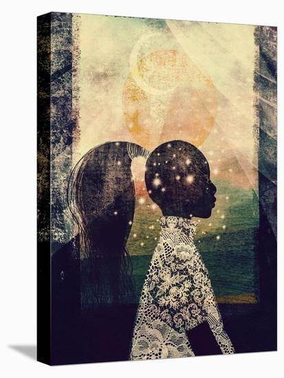 The Sun, Stars and Moon-Erin K. Robinson-Stretched Canvas Print