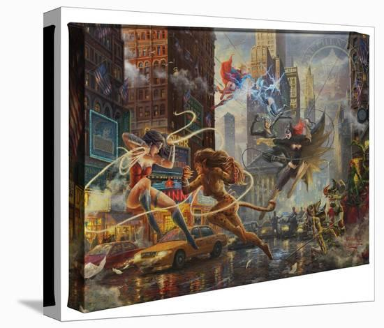 The Women of DC-Thomas Kinkade-Gallery Wrapped Canvas
