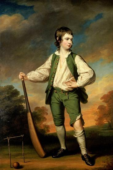 The Young Cricketer - Portrait of Lewis Cage, 1768-Francis Cotes-Stretched Canvas Print