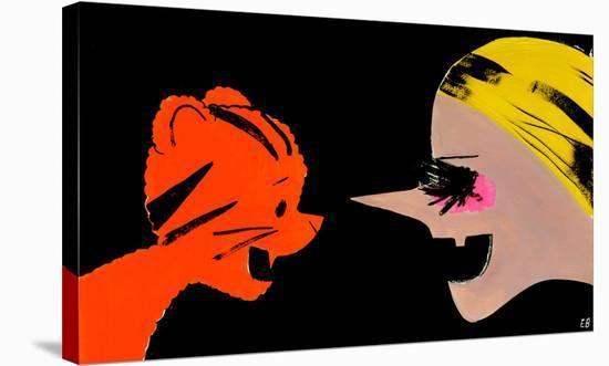 Tigers vs. Witches, 2012-Ellen Berkenblit-Stretched Canvas Print