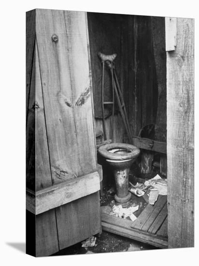Toilet in Outhouse in Slum Area a Few Blocks from the Capital in Washington, Dc-Carl Mydans-Stretched Canvas Print