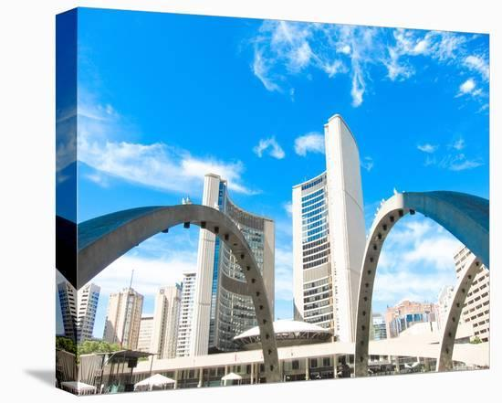 Toronto City Hall--Stretched Canvas Print