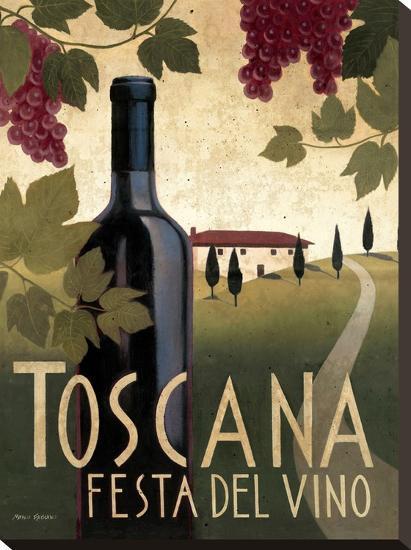 Toscana Festa Del Vino-Marco Fabiano-Stretched Canvas Print
