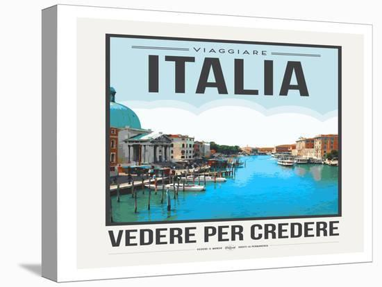 Travel Poster Italy-Brooke Witt-Stretched Canvas Print