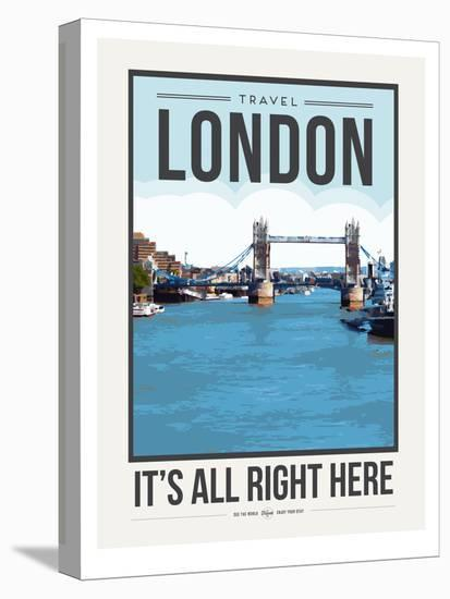 Travel Poster London-Brooke Witt-Stretched Canvas Print