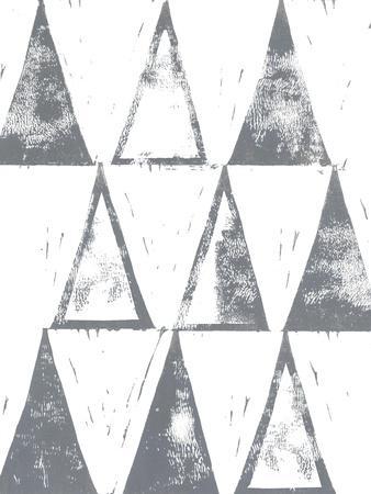 Triangle Block Print II-Grace Popp-Stretched Canvas Print