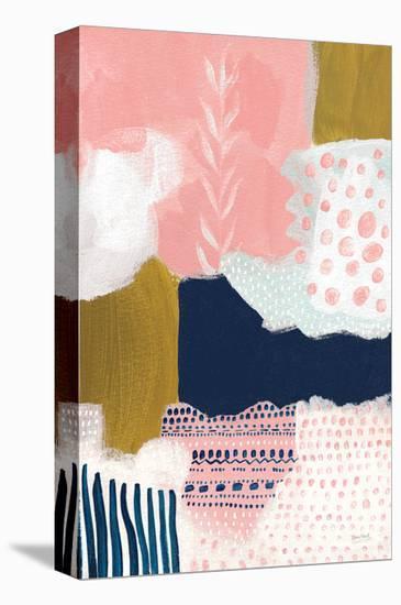 Tribal Study Coral-Lynn Mack-Stretched Canvas Print