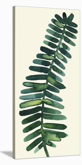 Tropical Palm Leaf II-Kim Johnson-Stretched Canvas Print