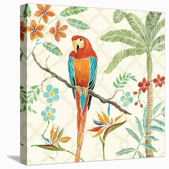 Tropical Paradise II-Daphne Brissonnet-Stretched Canvas Print