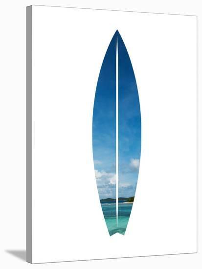Tropical Surfboard-Jetty Printables-Stretched Canvas Print