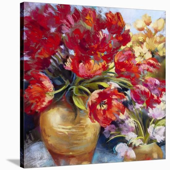 Tulip Firework-Nel Whatmore-Stretched Canvas Print