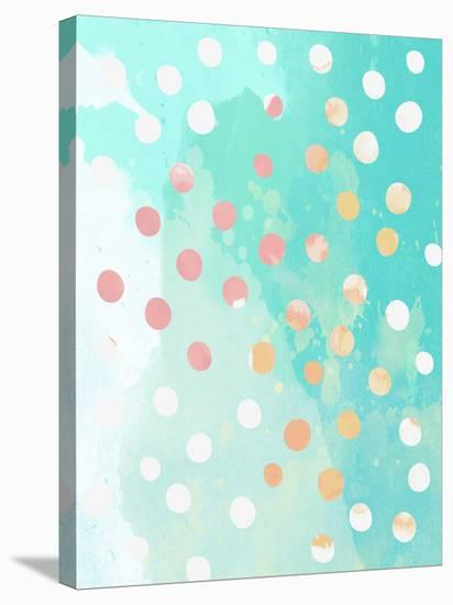 Turquoise Watercolor Painting--Stretched Canvas Print