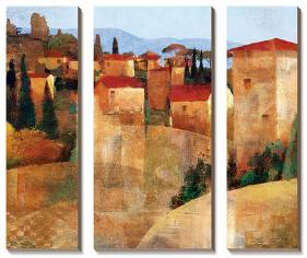 Tuscan Hillside-Keith Mallett-Stretched Canvas
