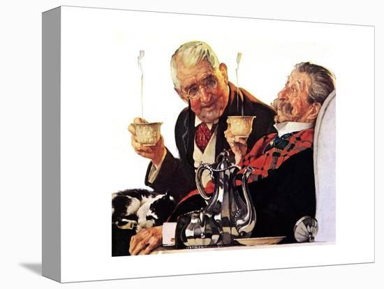 Two Gentlemen with Coffee-Norman Rockwell-Premier Image Canvas