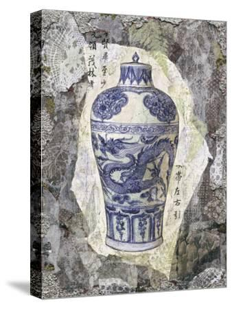 Blue Dragon Vase-Annabel Hewitt-Stretched Canvas Print