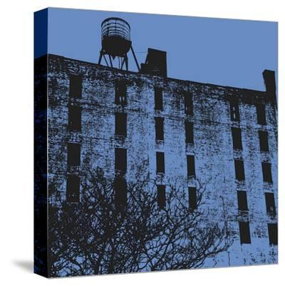 Blue Wall-Erin Clark-Stretched Canvas Print