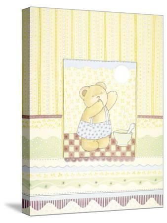 Good Morning Bear-Gaelle Cicarda-Stretched Canvas Print