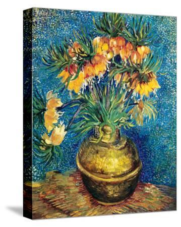 Crown Imperial Fritillaries in a Copper Vase, c.1886-Vincent van Gogh-Stretched Canvas Print