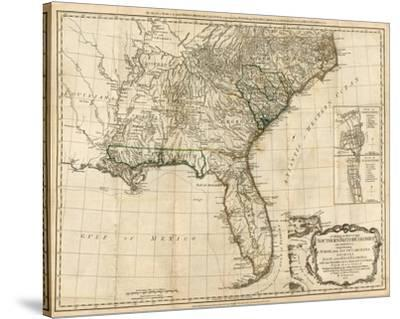 General Map of the Southern British Colonies, in America, c.1776-Robert Sayer-Stretched Canvas Print
