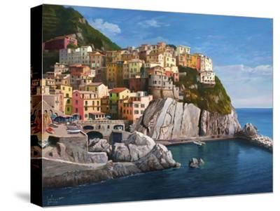 Manarola Le Cinque Terre-Adriano Galasso-Stretched Canvas Print
