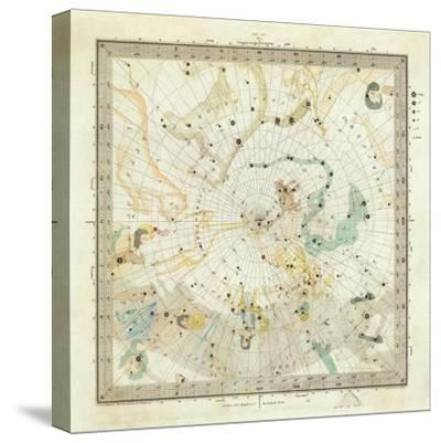 Celestial Anno 1830: No. 5. Circumjacent the North Pole, c.1844--Stretched Canvas Print