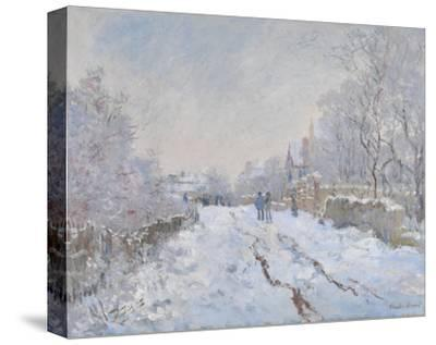 Snow at Argenteuil, 1875-Claude Monet-Stretched Canvas Print