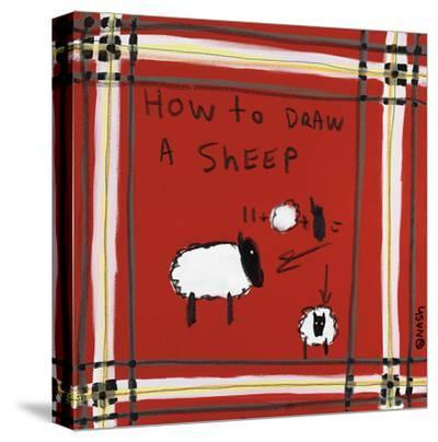 How to Draw a Sheep-Brian Nash-Stretched Canvas Print