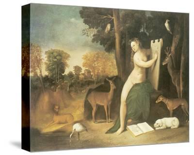 Circe And Her Lovers In A Landscape-Dosso Dossi-Stretched Canvas Print