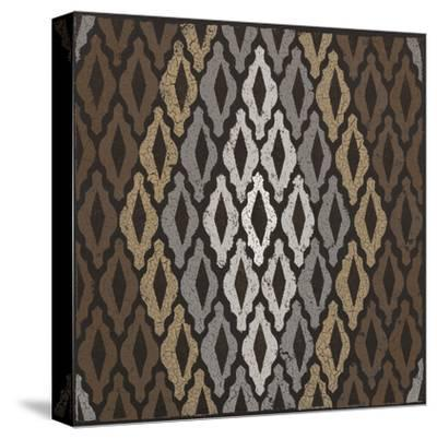 Moroccan Tile with Diamond (Neutrals)-Susan Clickner-Stretched Canvas Print
