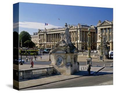 Fountain Place Concorde Paris--Stretched Canvas Print