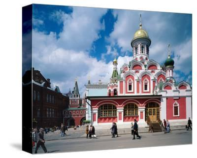 Orthodox Church at Red Square, Moscow, Russia--Stretched Canvas Print