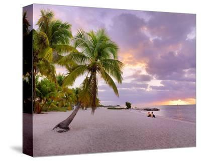 Sunrise on Smathers Beach in Key West, Florida Keys, Florida, USA--Stretched Canvas Print