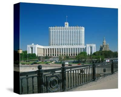 The White House in Moscow, Russia--Stretched Canvas Print