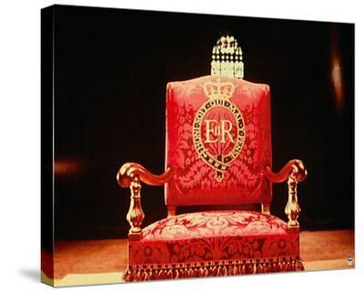 Coronation Throne, 1953-British Pathe-Stretched Canvas Print