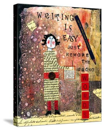 Writing is Easy-Barbara Olsen-Stretched Canvas Print