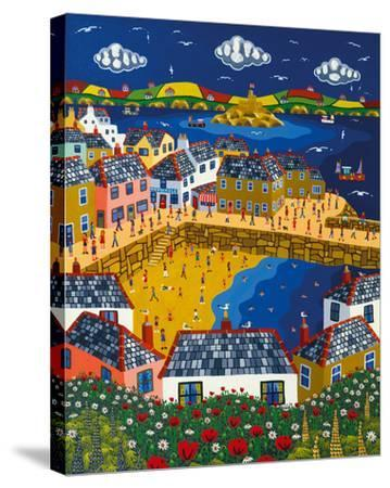 Summer at Mousehole-Brian Pollard-Stretched Canvas Print