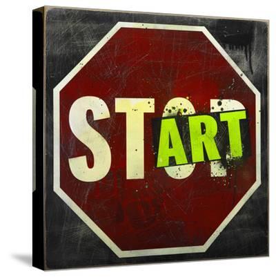 Start-Daniel Bombardier-Stretched Canvas Print
