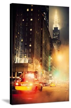 New York Night-Irene Suchocki-Stretched Canvas Print
