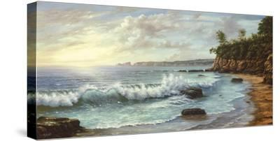Summer Blue Sea-Keith Cast-Stretched Canvas Print